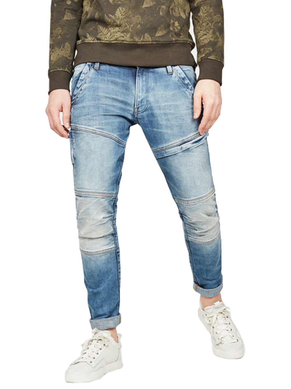 G-STAR RACKAM 3D SKINNY FADED MEDIUM AGED REND