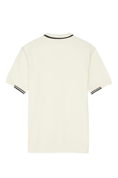 FRED PERRY M4803 CONTRAST STITCHED PIQUE TEE ECRU