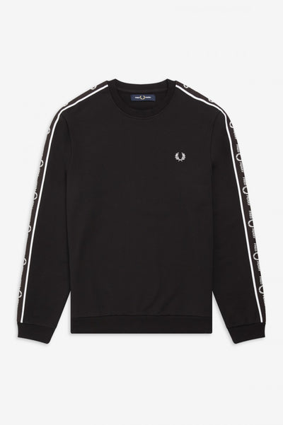 FRED PERRY M7538 TAPED SHOULDER SWEAT-SHIRT BLACK