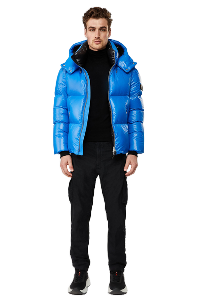 MACKAGE KENT-R HOODED DOWN JACKET COBALT
