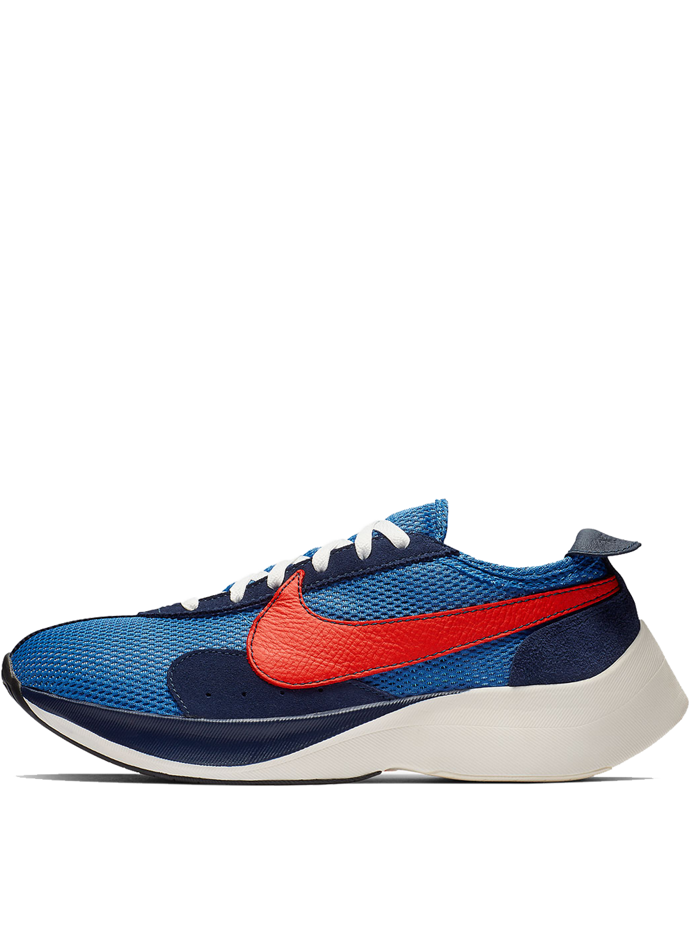 NIKE MOON RACER QS MOUNTAIN BLUE/TEAM ORANGE-MID NAVY