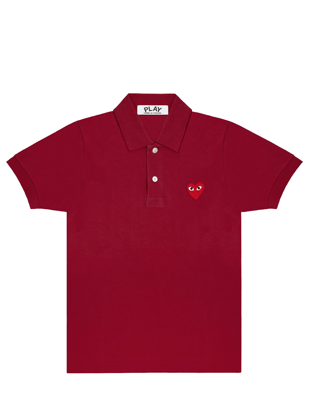 PLAY P1T006 PLAY POLO SHIRT RED HEART BURGUNDY