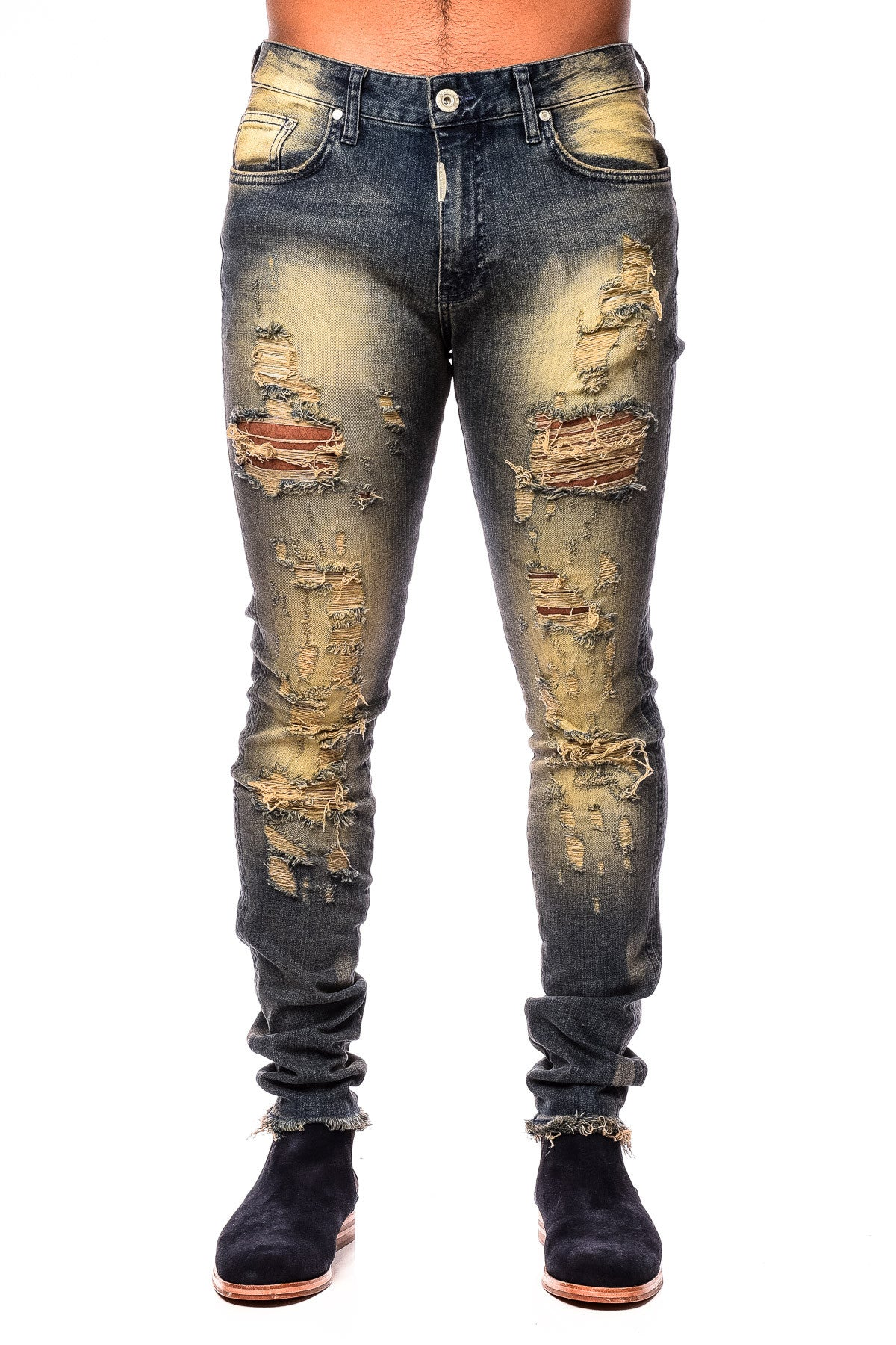 Represent Shredded Destroyer Denim Sand Blast Jean