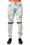Represent Knee Destroyer Denim Bleach Blue