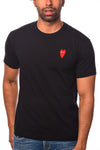 CDG P1T230 PLAY T-SHIRT RED HEART BLACK