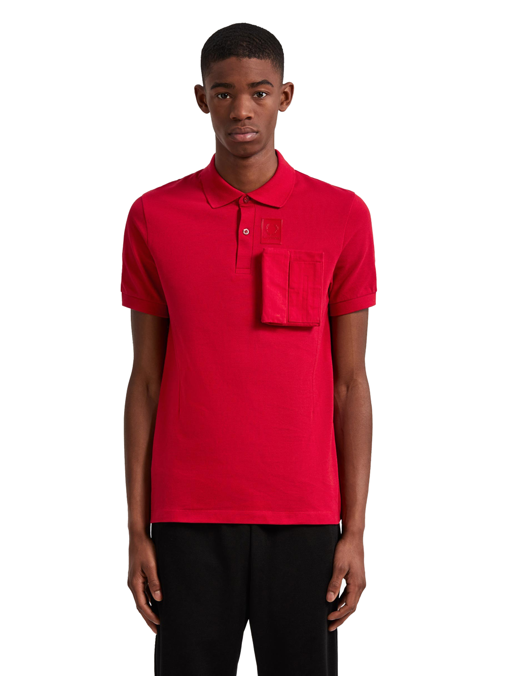 RAF SIMONS SM5131 SPACE PIQUE SHIRT WINTER RED
