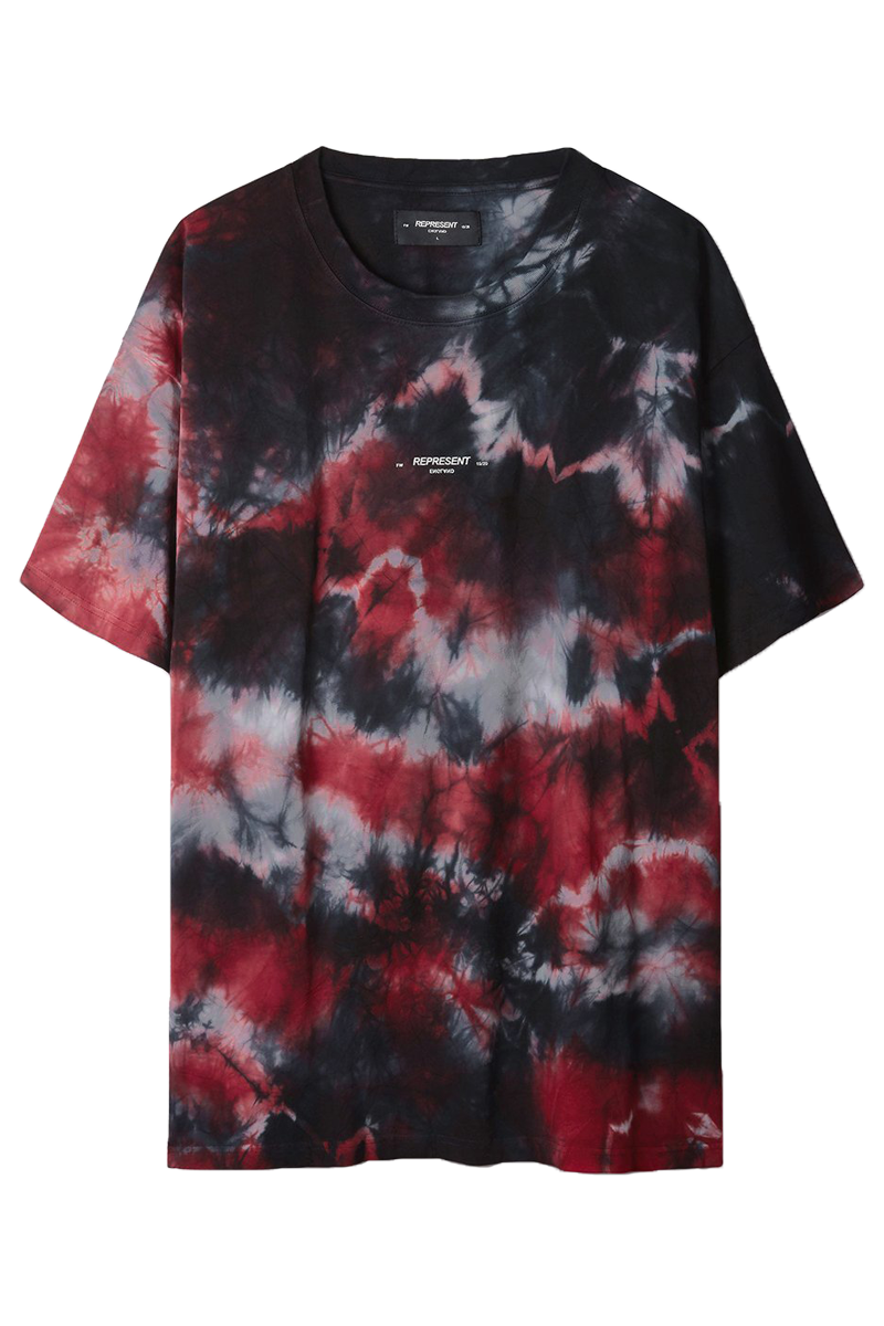REPRESENT M05019 LOGO T-SHIRT RED MARBLE