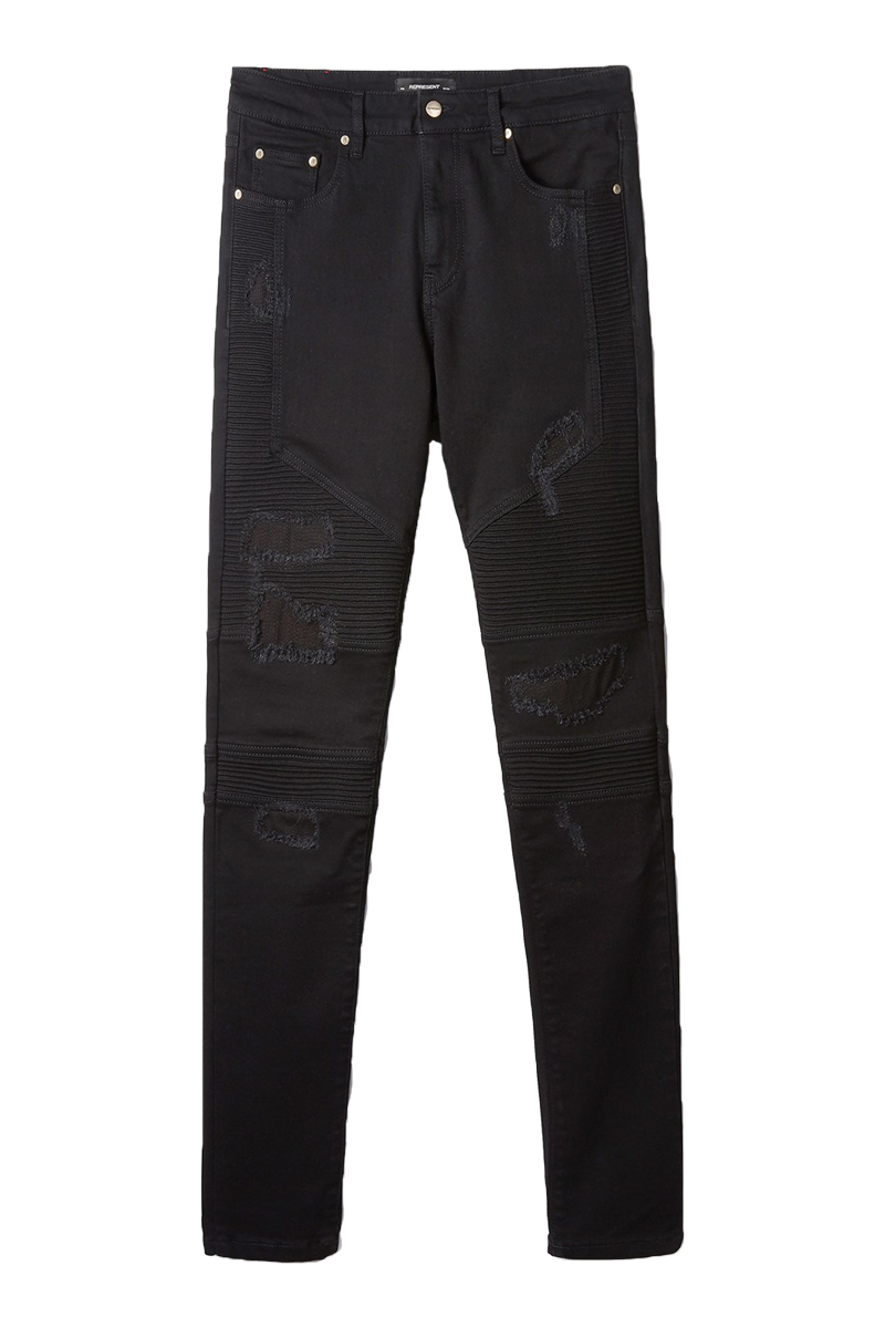 REPRESENT M07050 BIKER DENIM JET BLACK