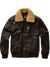 G-STAR RAWBOLLARD LEATHER BOMBER STRATO
