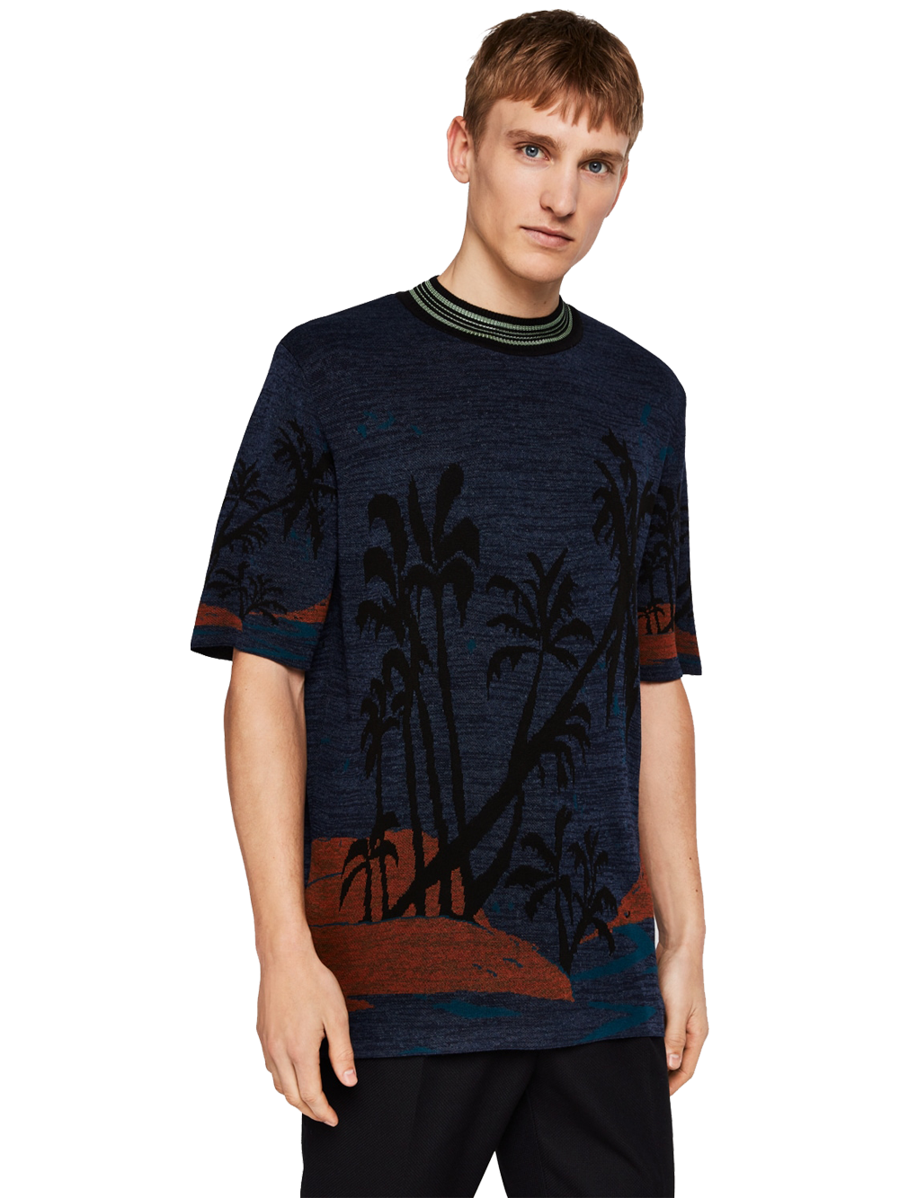 SCOTCH & SODA 148829 KNITTED JACQUARD TEE COL.0217