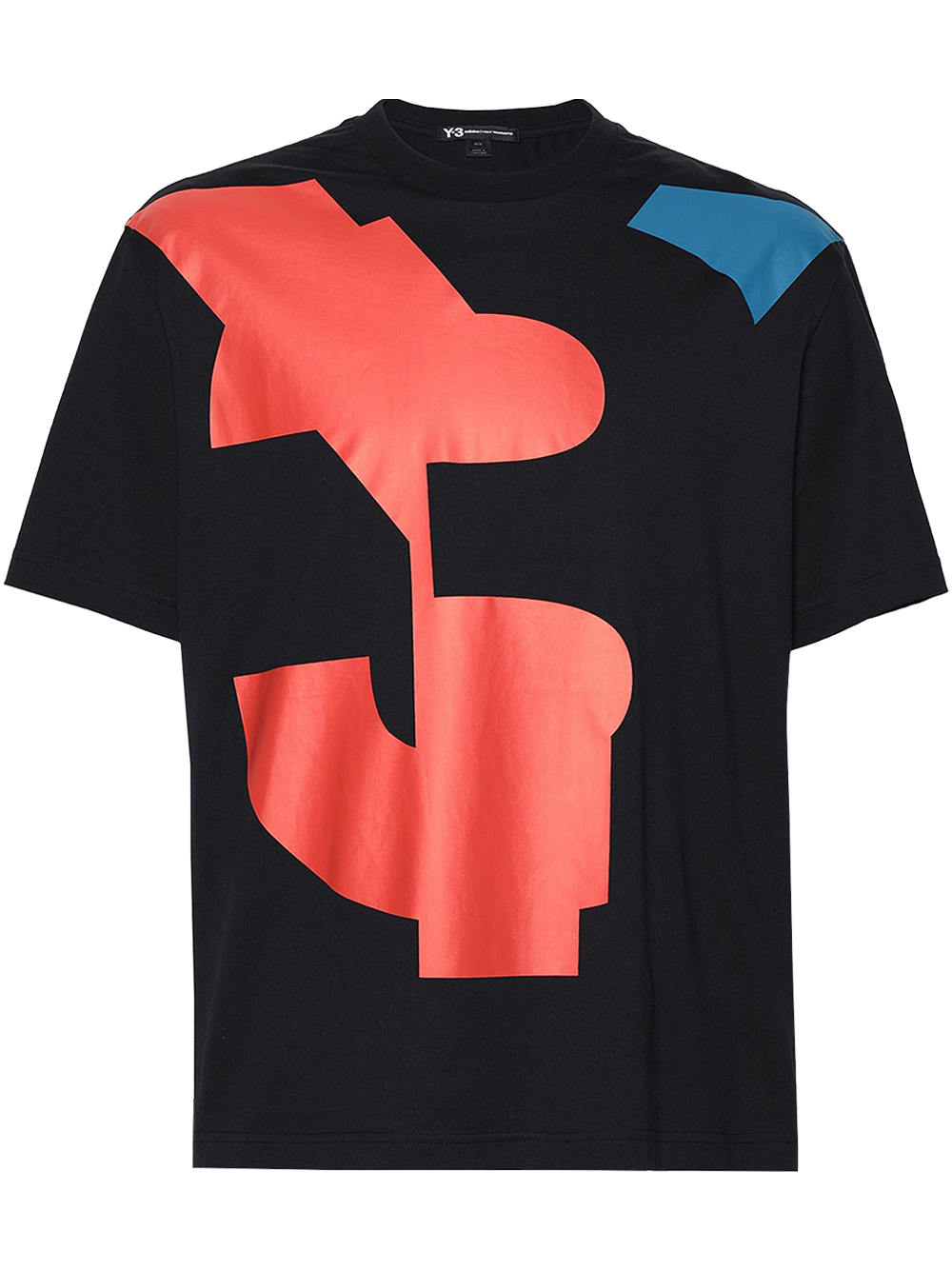 Y-3 FJ0332 U VARSITY SS TEE BLACK/ORANGE