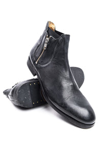 Boots - Hudson Mitchell Calf Skin Zip Chelsea Boot In Black