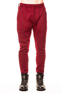 Bottoms - Publish Noel Heathered Maroon Jogger Pant