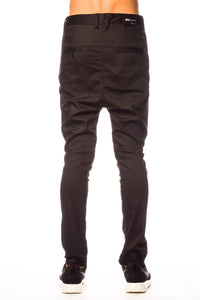 Bottoms - Publish Vesco Drop Stack Black Pant