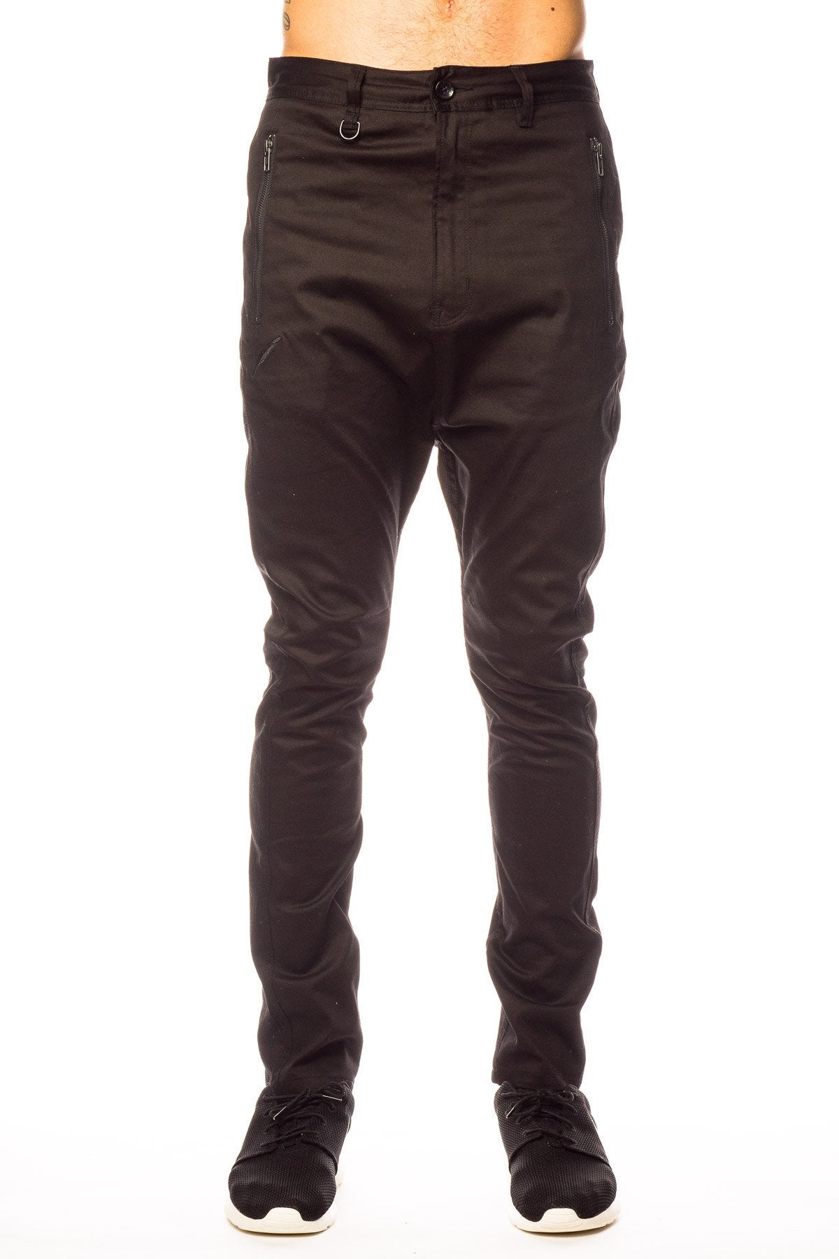 Bottoms - Publish Wyn Drop Stack Black Pant