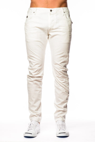 Denim - G-Star Arc Zip 3D Slim 3D Aged Inza White Stretch Denim Jean