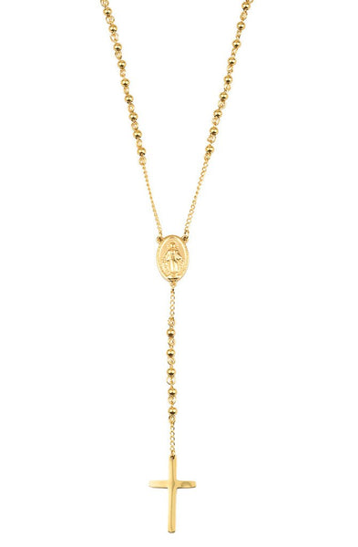 Jewelry - Mister Mr. Rosary Necklace Gold