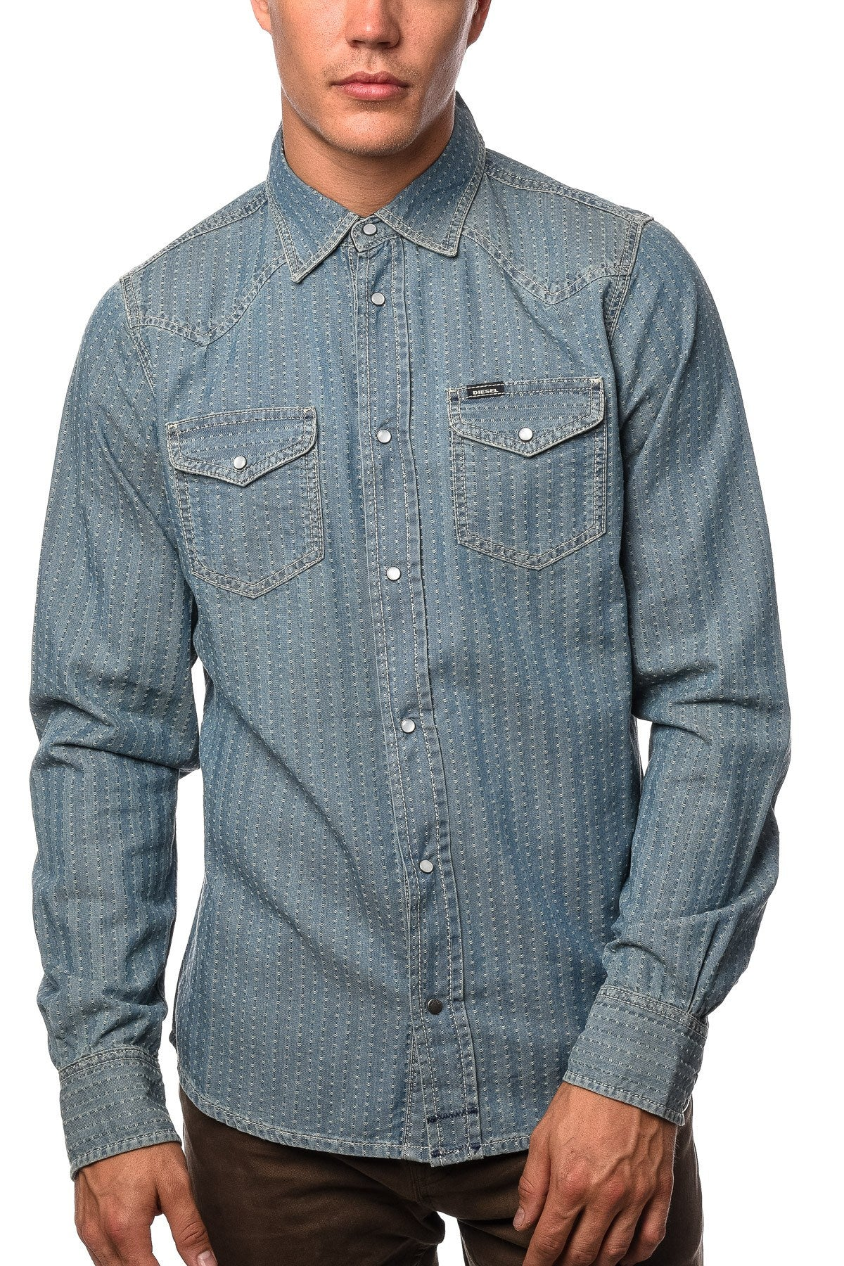 Shirt - Diesel New-Sonora Shirt In Denim
