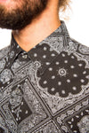 Shirt - Shades Of Grey Black Bandana Shirt