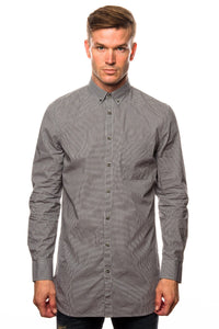 Shirt - Zanerobe Eight Foot Long Black Gingham Shirt