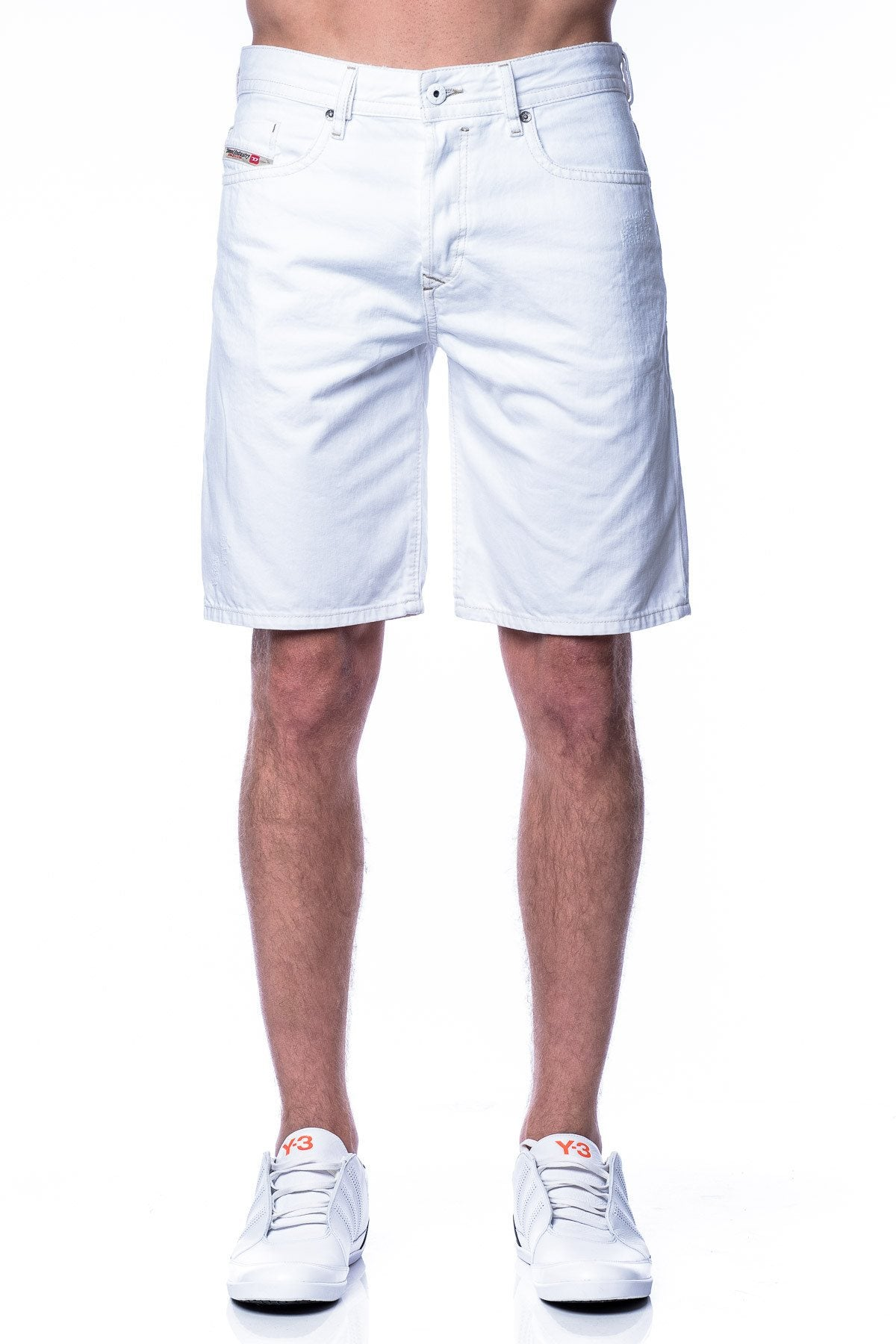 Shorts - Diesel Bustshort White Denim Shorts
