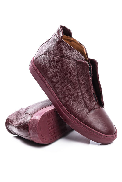 Sneakers - Ylati NERONE Hi In Wine Leather