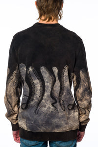 Sweater - Iuter 15FWOSW05 Crewneck Marble Wash Black Sweater