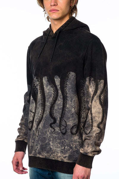 Sweater - Iuter 15FWOSW06 Hooded Marble Black Sweater