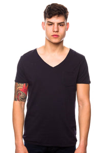 T-Shirt - Scotch & Soda 51161 Chest Pocket Blue Smoke T-Shirt