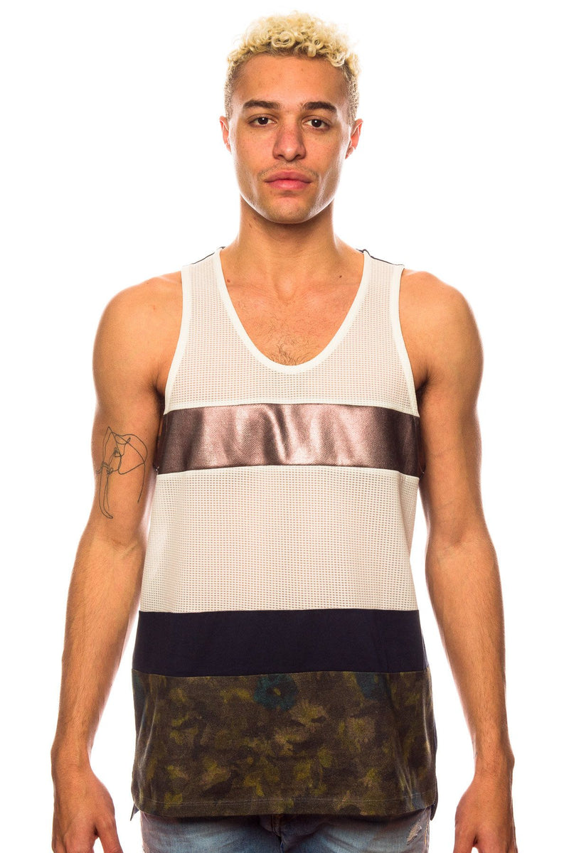 4ffd61a13ce0a Tank - Shades Of Grey Multi Fabric White Bronze Navy Tank Top