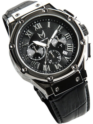 Watches - Meister Ambassador AM144CB Polished Silver/Black Watch