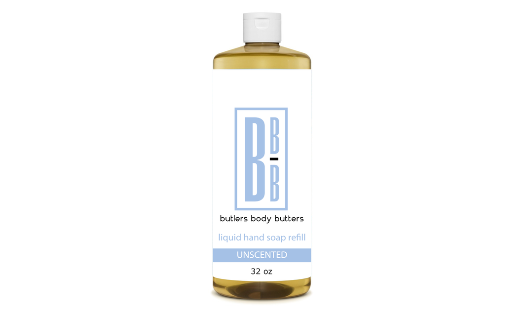 32 oz Liquid Hand Soap Refill - Butlers Body Butters