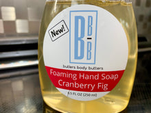 Load image into Gallery viewer, Liquid Castile Soap, Foaming Dispenser, Cranberry Fig, Holiday Gift