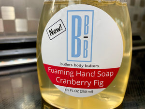 Liquid Castile Soap, Foaming Dispenser, Cranberry Fig, Holiday Gift