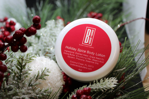 LIMITED EDITION Holiday Spice Body Lotion, Essential Oils, All Natural Coconut Oil Free Lotion - Butlers Body Butters