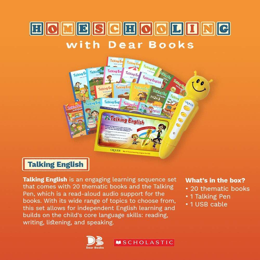 Dear Books Home Learning Materials Philippines Grolier Talking English Reading Pen
