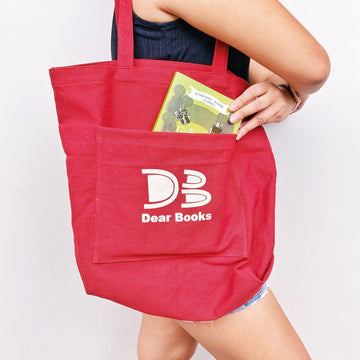 Book Pocket Tote Bag