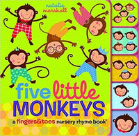 Five Little Monkeys: A Finger & Toes Nursery Rhyme Book - Dear Books Online Children's Book Store Philippines
