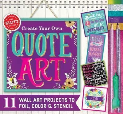 Klutz: Create Your Own Quote Art - Dear Books Online Children's Book Store