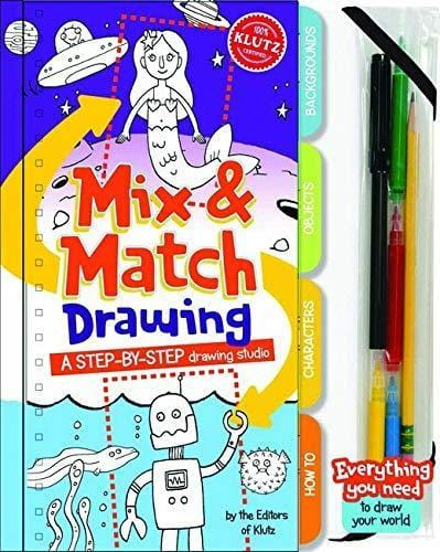 Klutz: Mix & Match Drawing: a Step-by-step Drawing - Dear Books