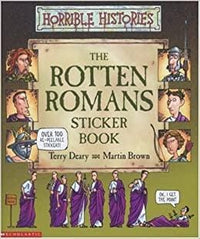 Rotten Romans Sticker Book (Horrible Histories) with 2 extra books - Dear Books
