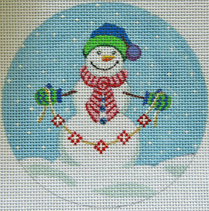 Snowman with garland Ornament