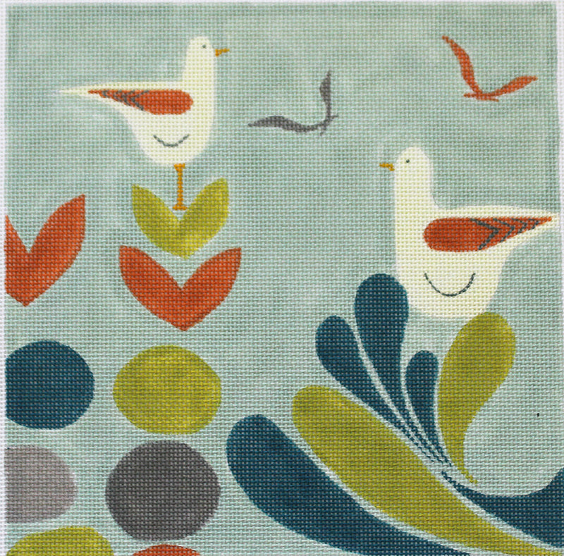 Mid Century Sea birds