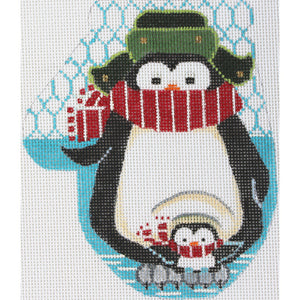 Penguin Mom & Chick Large Mitt