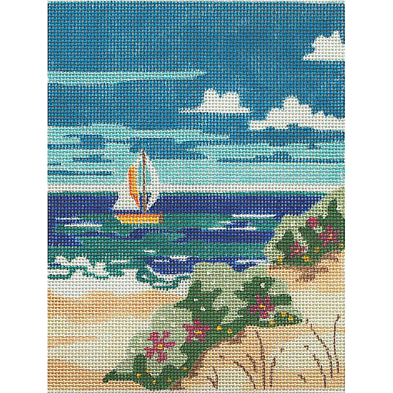 Beachside: Sailboat At The Shore - long