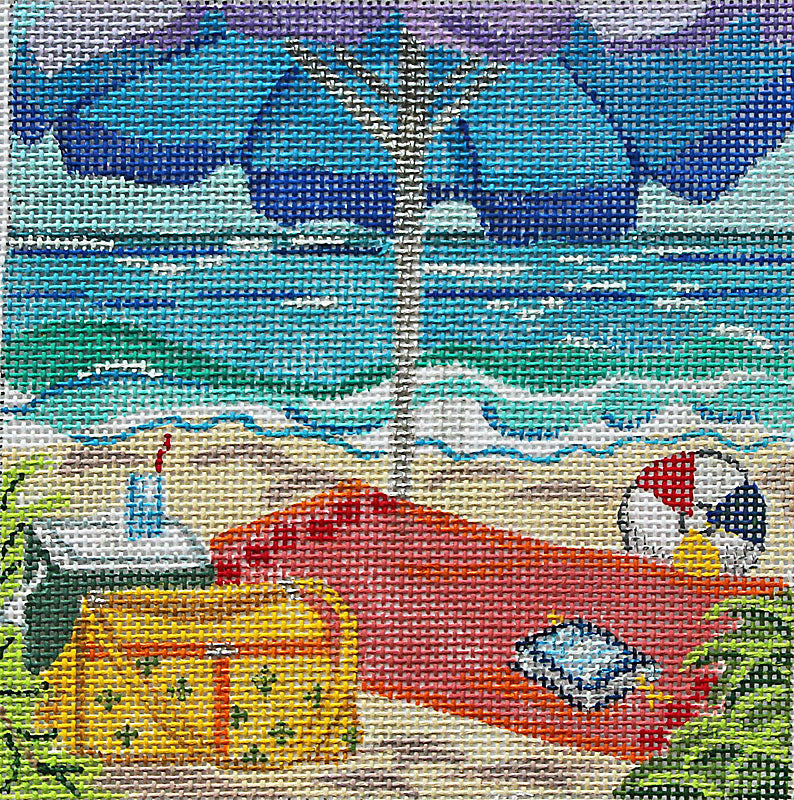 Tropical Beach Scene:  Day At The Beach