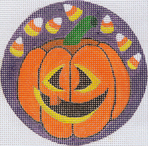Pumpkins With Candy Corn