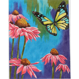 Pink Daisies and Butterfly