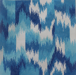 IKAT VII: Flame in Blues