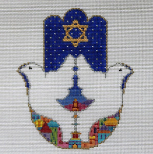Hamsa:  Doves Over Jerusalem